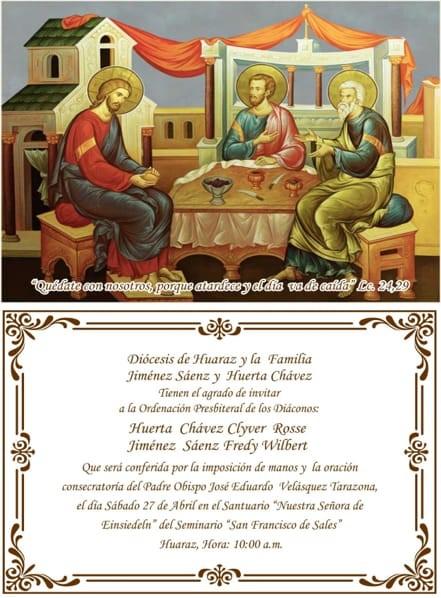 Avviso ordinazione sacerdotale