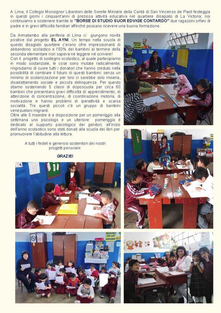 Aggiornamenti sui progetti in Perù